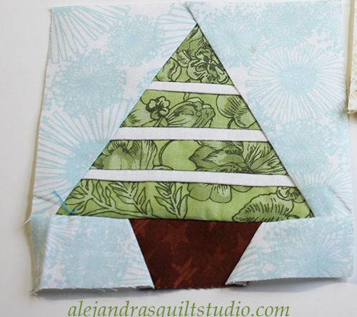 Como hacer un arbol Navidad patchwork