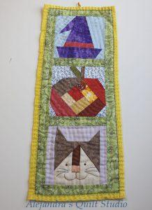 Halloween mini quilt patchwork pattern
