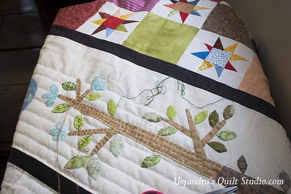 Cómo acolchar a mano tu colcha de patchwork