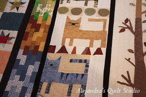 Colcha patchwork gatos