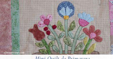 mini quilt de primavera