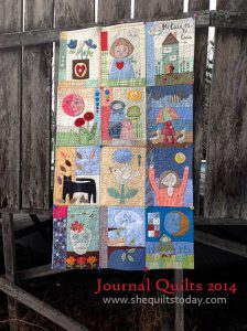 Journal Quilt 2014 colcha de patchwork