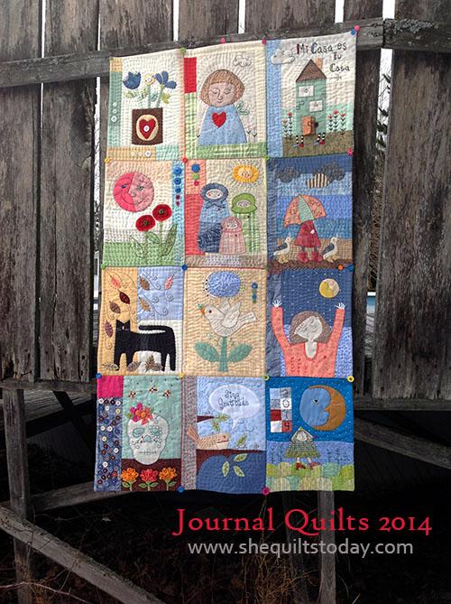 Journal Quilt 2014 colcha de patchwork