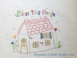 Quilts bordados casa
