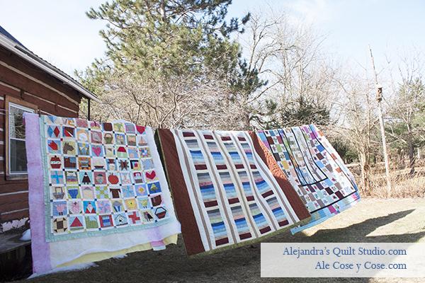 Aireando colchas de patchwork