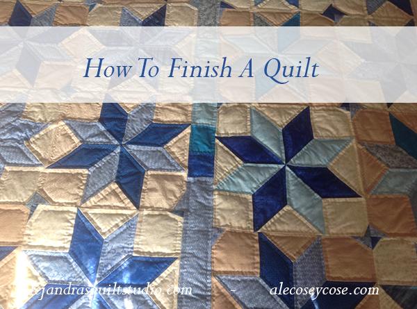 como terminar una colcha de patchwork