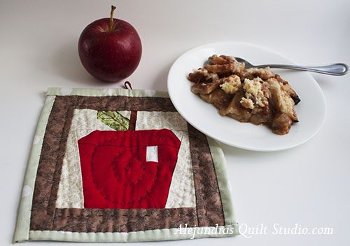 Apple paper piecing free pattern