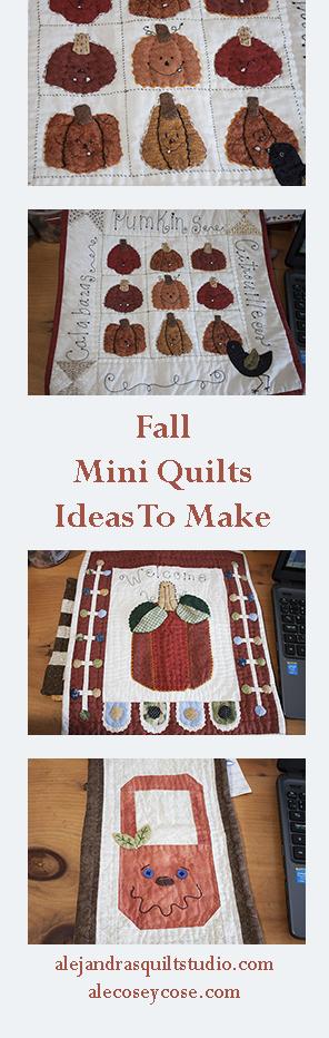 mini quilts para el otoño