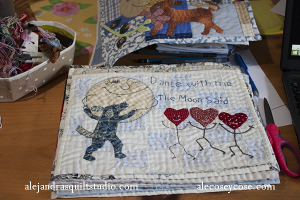 como hacer una journal quilt