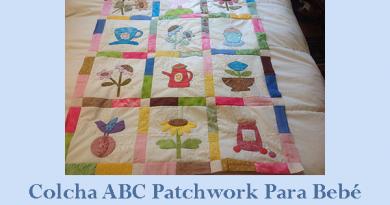 ABC colcha patchwork para bebé
