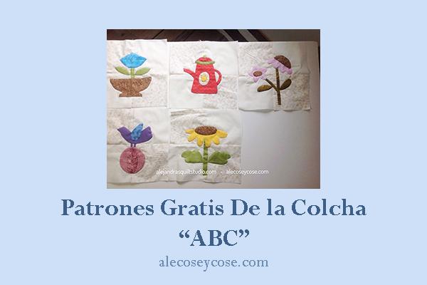 patrones gratis colcha patchwork ABC