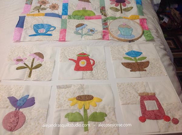 ABC colcha de patchwork para bebé