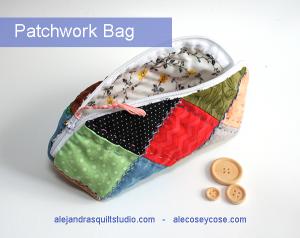 Bolsa de patchwork tutorial