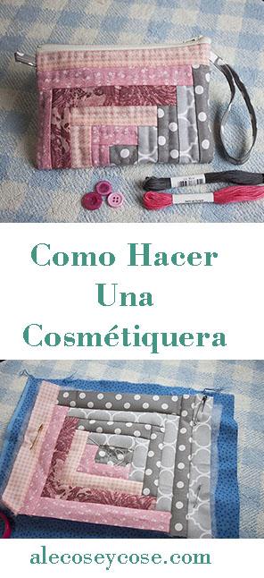 Como hacer una cosmétiquera