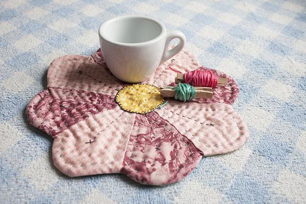 como hacer mug rug patchwork