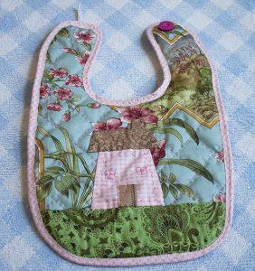 como hacer babero bebe diy patchwork