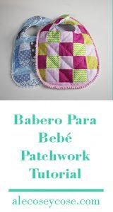 babero fácil para bebé patchwork