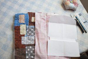 como hacer bolsita patchwork boro