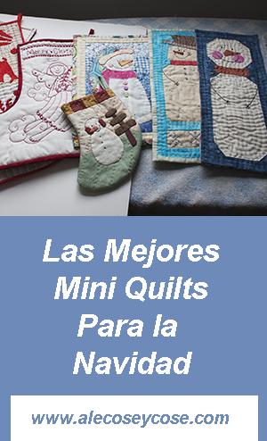 las mejores mini quilts de navidad