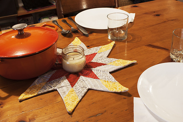 how to make a star mug rug free pattern