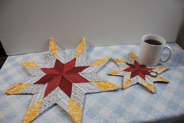 como hacer una mini quilt estrella