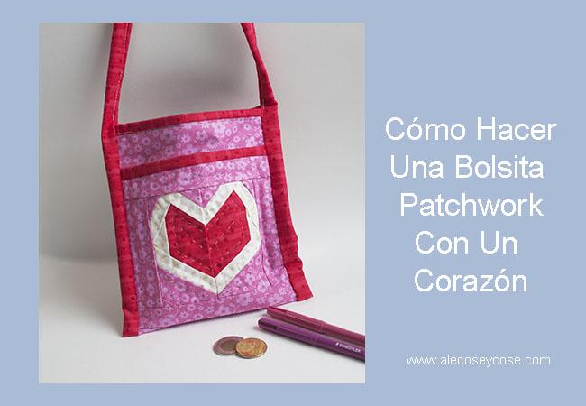 Bolsa Con Corazón Patchwork
