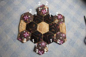 como hacer hexagonos patchwork
