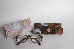 funda para gafas patchwork