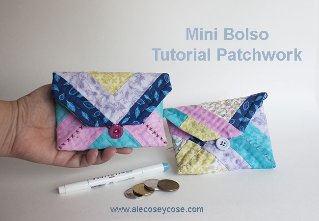 tutorial mini bolso patchwork