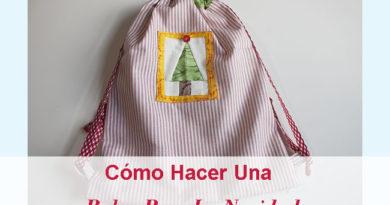 Como hacer bolsa navidena