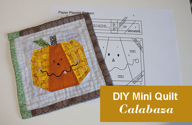 mini quilt de calabaza tutorial