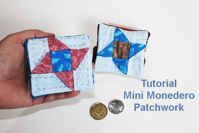 tutorial mini monedero patchwork