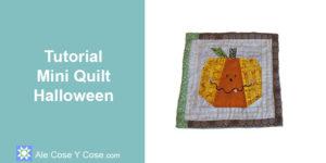 Tutorial Mini Quilt Halloween
