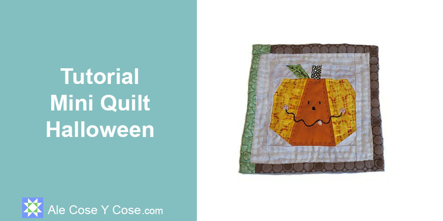 Tutorial Mini Quilt Halloween