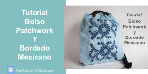 Bolso Patchwork y Bordado Mexicano