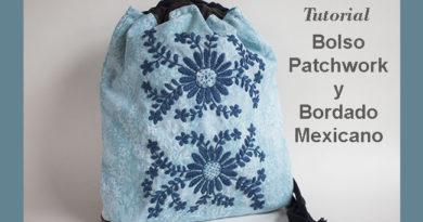 bolso de mano con bordado mexicano