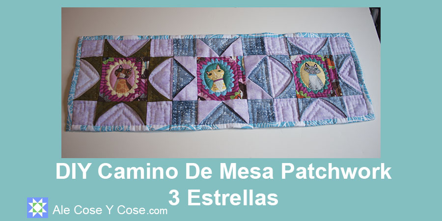 DIY Camino De Mesa Patchwork 3 Estrellas