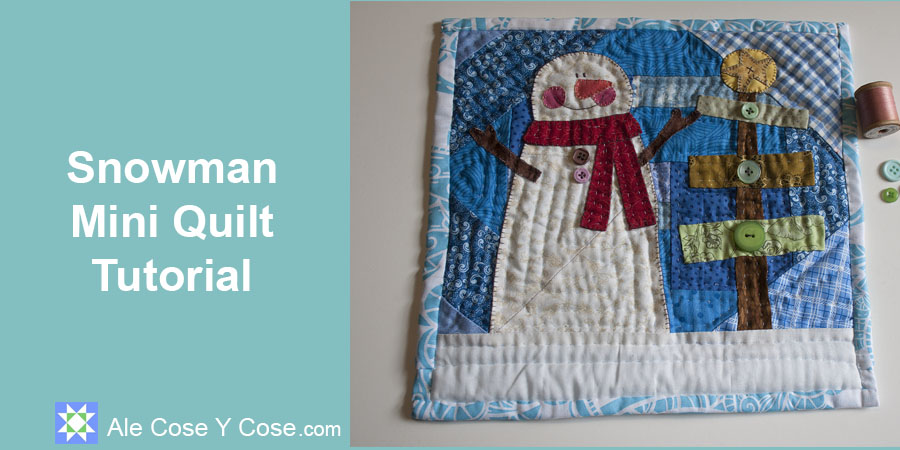 Tutorial Mini Quilt Muneco De Nieve