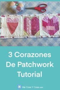 3 Corazones De Patchwork
