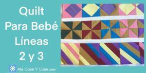 Quilt Para Bebe Lineas 2 y 3