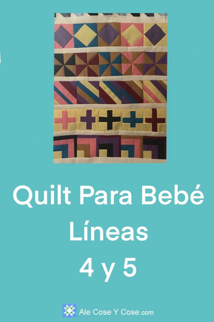 Quilt Para Bebe Lineas 4 y 5