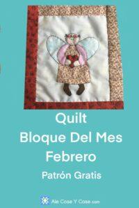Quilt Bloque Del Mes Febrero