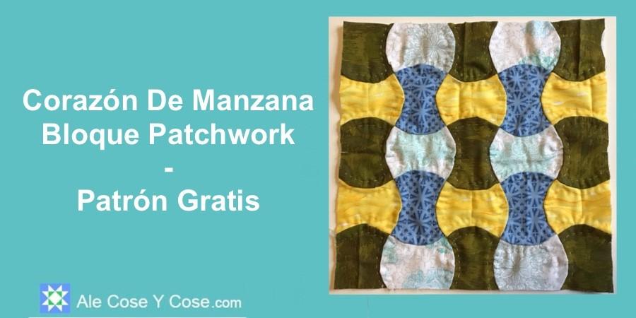 Corazon De Manzana Bloque Patchwork