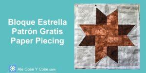 Bloque Estrella Paper Piecing