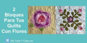 Bloques Para Quilt Con Flores