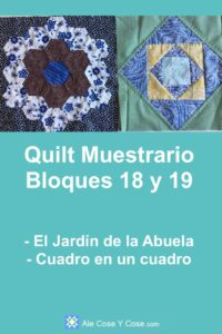 Quilt Muestrario Bloques 18 Y 19