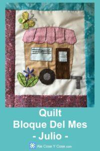Quilt Bloque Del Mes Julio