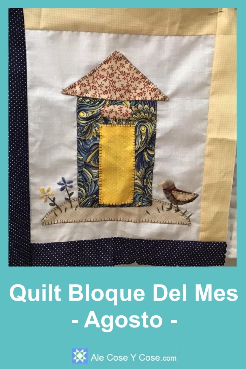 Quilt Bloque Del Mes - Agosto