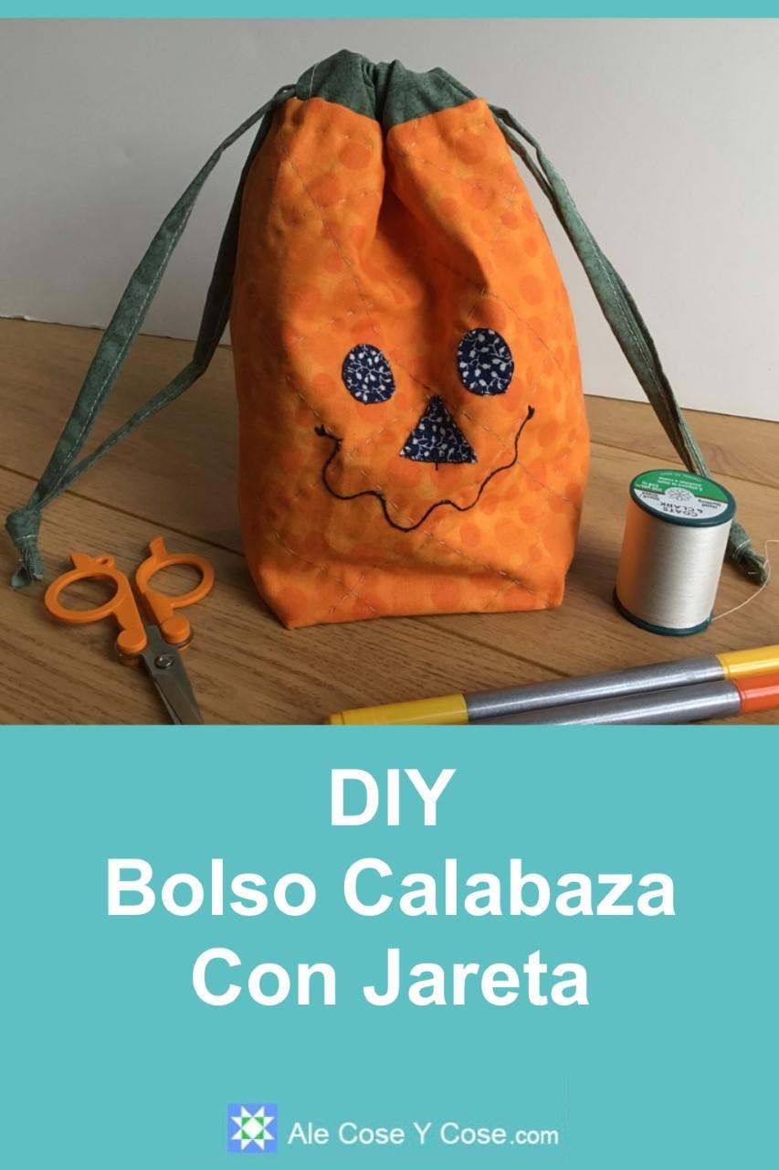 DIY Bolso Calabaza Con Jareta