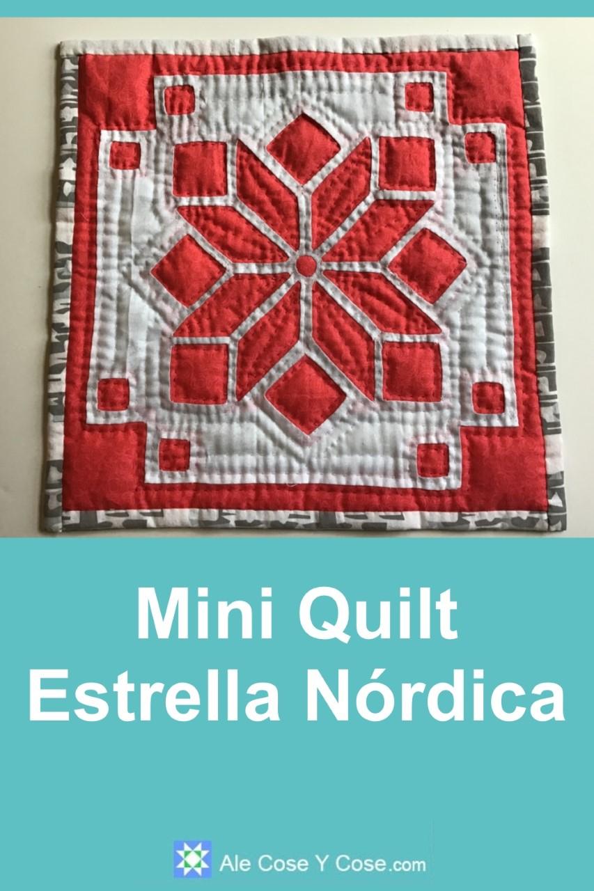 Mini Quilt Estrella Nordica